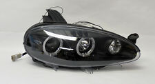 Mazda Miata MX5 01-05 Black LED Projector Dual Halo Angel Eyes Headlights