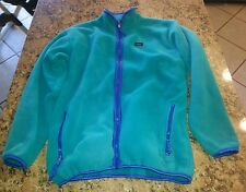 Used Vtg REI Boys Kids Girls Fleece Fall Pullover Jacket Coat Youth Sz Xl teal