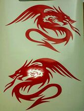 2 x dragon chinois tribal-rouge-vinyl coupe voiture décalque autocollant mural art portable