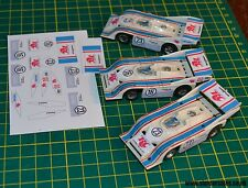 Aurora AFX HO Slot car Custom stickers Porsche Can Am 917-10K #16 & 23 car