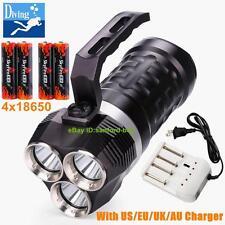 Professional Diving Flashlight 6000lumen Torch 3x CREE XM-L L2 Lamp Waterproof