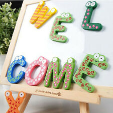26pcs Wooden Alphabet Letters Baby Toys Kids Fridge Magnet Child Educational Toy