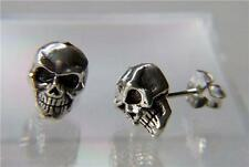 Fine Chunky Sterling Silver Skull Studs (1.2 grams)925 Butterfly Backs included