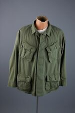Vtg 1969 LARGE Vietnam War US Army Ripstop Jungle Shirt Coat Short #1709 1960s