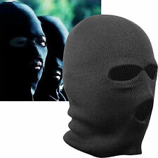 Black Balaclava Mask Thinsulate Warm Winter SAS Style Army Ski Hat Neck Warmer L