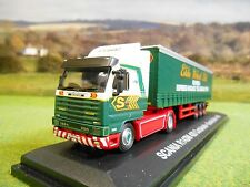 OXFORD ATLAS EDDIE STOBART 1996 SCANIA R143M 420 & TRIAXLE CURTAINSIDER 1/76