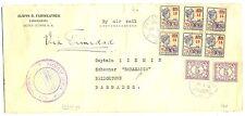 SURINAME 1929-10-12  FC  TO SCHOONER-SARAMACCA- BARBADOS  FINE...