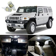 13 x Xenon White LED Interior Light Package Kit Deal For Hummer H2 2003 - 2009