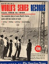 Official World's Series Records from 1903 to 1959 by The Sporting News