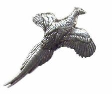 Flying Fagiano Peltro Tiro Pin Badge