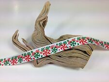 """BTY 7/8"""" Mickey Mouse Peppermints Christmas Grosgrain Ribbon Hair Bows Lisa"""