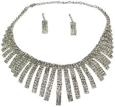 Festliches Schmuckset Collier, Ohrringe Hochzeit Braut necklace earrings crystal