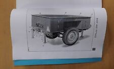 Sankey.1/2 ton.2 wheeled trailer.cargo.Illustrated parts list.1957.