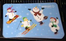 "WALMART CANADA GIFT CARD ""SNOWMEN WINTER SPORTS"" NO VALUE NEW 2015 SNOWMAN"