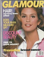 VINTAGE Glamour Magazine  JANUARY 1992 CINDY CRAWFORD COVER