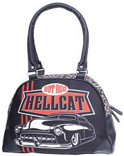 Hotrod Hellcat TOP CHOPS Hot Rod Leopard Bowler Bag / TASCHE Rockabilly