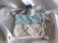Doudou l'âne Bourriquet, bleu et rose, Disney, Nicotoy