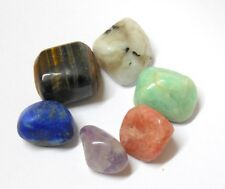 Reiki Energy Charged Set Of 6 Tumble Stone (tigereye,moonstone,amethyst,sunstone
