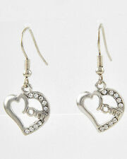 MOM HEART CRYSTAL MOTHER MOMMA MAMA FAMILY MOTHER'S DAY DANGLE EARRINGS #74-F