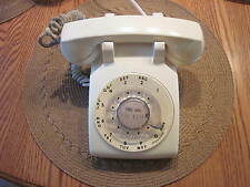 Vintage Rotary Dial Telephone White Desk Phone August 1973