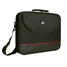 schwarze 17 Zoll Stoff Notebooktasche Tasche Notebook Laptop Laptoptasche +Gurt
