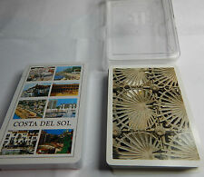 """ decks of Spain themed cards Costa Del Sol and view of Catalunya Barcelona"