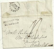 * 1827 HUDDERSFIELD TO CHALMERS IN KIRKCALDY WRAPPER H/S MISSENT TO DUMFRIES