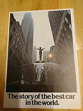 "1977 Rolls Royce - ""The story of the best car in the world"" Brochure"