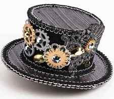 Steampunk Mini Top Hat Black Victorian Fancy Dress Halloween Costume Accessory