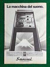 PX103/104/105 Clipping Pubblicita' Advertising (1980) 24x17 cm - STEREO SANSUI