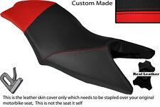RED & BLACK CUSTOM FITS MALAGUTI DRAKON 50 DUAL LEATHER SEAT COVER