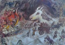 Marc Chagall Poster Russian 1887-1985 The War Kunsthaus Zurich Surrealism 01537