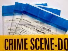 3m CSI Scena del crimine non inserire nastro PLUS 3 prove Borse misterioso omicidio di piccole dimensioni