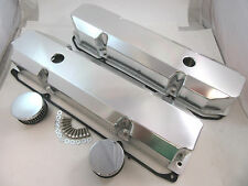 Fabricated Aluminum Short Bolt Style Mopar 383 440 Valve Covers W/ Gaskets V8