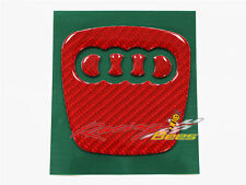 Audi Red Carbon Fiber Steering Wheel Emblem Insert for Audi A4 A5 A6 S4 S5 Q5