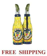 CORONA EXTRA LIGHT CINCO DE MAYO 2 BEER BOTTLE KOOZIE COOLIE COOLERS HUGGIE NEW
