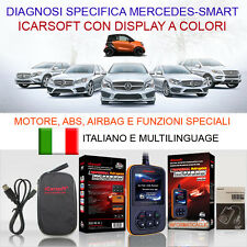 DIAGNOSI OBD MERCEDES SMART CON DISPLAY, MOTORE ABS, AIRBAG, OLIO SERVICE