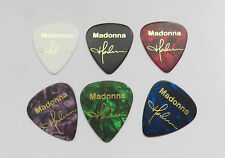 MADONNA autograph stamped gold printed plectrum guitar picks set of 6 med 0.71mm