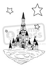 A7 'Fantasy Castle & Stars' Unmounted Rubber Stamp (SP004931)
