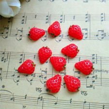 NEW 10pcs cute Red Resin Strawberry Flatback Scrapbooking For phone/ craft/ DIY