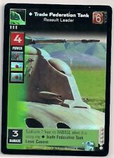 Star Wars Young Jedi CCG Reflections FOIL P6 Trade Federation Tank, Assault Ldr