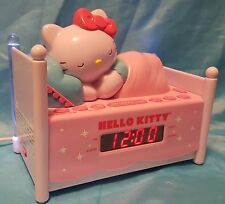 Sleeping Hello Kitty Bed AM/FM LED Clock Radio Alarm Snooze Night Light