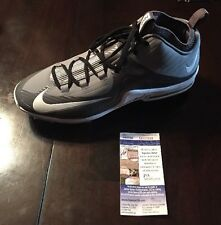 TREVOR STORY Signed WHITE NIKE AIR MAX BASEBALL CLEATS JSA/COA SD20006