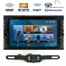 SONY LENS 6.2'' 2 DIN In Dash Car Stereo DVD Player USB BT IPOD TV Radio+Camera