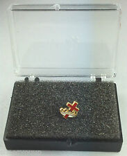 Masonic Knights Templar Cross & Crown Enamel Lapel Pin Badge In Gift Box