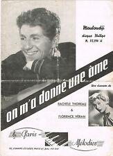 ON M'A DONNE UNE AME de MOULOUDJI Paroles Rachèle THOREAU Musique Florence VERAN