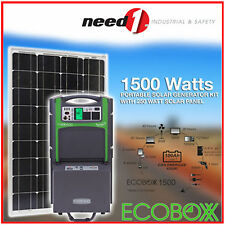 New Solar Generator Ecoboxx 1.5KVa 240V with Ecotank 100Ah with 250W Solar Panel