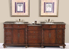 "90.5"" Double Sink Vanity Bathroom Cabinet Lavatory Modular Furniture 213BB"
