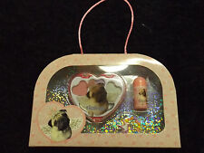 3 pc Claire's eye shadow set childrens cosmetics make up kid friendly pug puppy