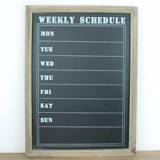 Chalkboard Week Blackboard Kitchen Chalk board Memo Board Shabby Chic Vintage